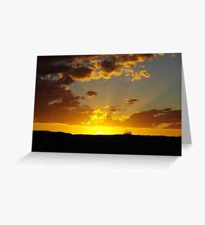 Last Rays on the Downs Greeting Card