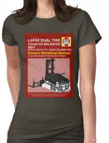Workshop Manual - Large Dual Tine CB AGV - BW Womens Fitted T-Shirt