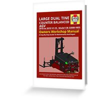 Workshop Manual - Large Dual Tine CB AGV - Colour Greeting Card