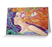 Goddess of Love lVenus /Aphrodite,acrylic artwork  Greeting Card