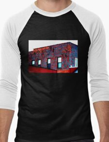 Red, White and Blue Building Men's Baseball ¾ T-Shirt
