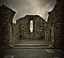 Glendalough Cathedral by Grahame Newell