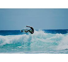 Surfing at snapper rock QLD Photographic Print