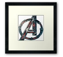 The Avengers-Age of Ultron Logo Framed Print