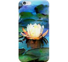 Two Water Lilies Impression iPhone Case/Skin