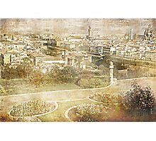 Faded Memories-Florence Photographic Print