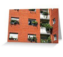 Apartment block  Greeting Card