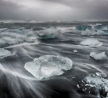 Ice Beach Wave Painting by Andreas Mueller