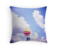 Golden Arches of the Sky Throw Pillow