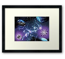 You didn't think this is happening in real time, did you? Framed Print