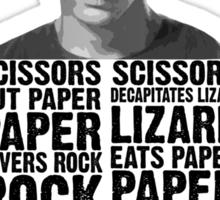 Sheldon, Rock Scissors Paper Lizard Spock Sticker