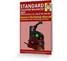 Workshop Manual - Standard CB AGV - Colour Greeting Card