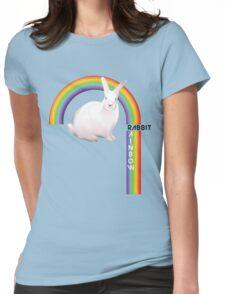 Rainbow Rabbit Womens Fitted T-Shirt