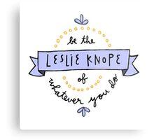 Leslie Knope Metal Print