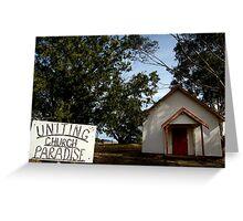 Uniting Church, Paradise Greeting Card