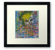 Abstract Woman's face Framed Print
