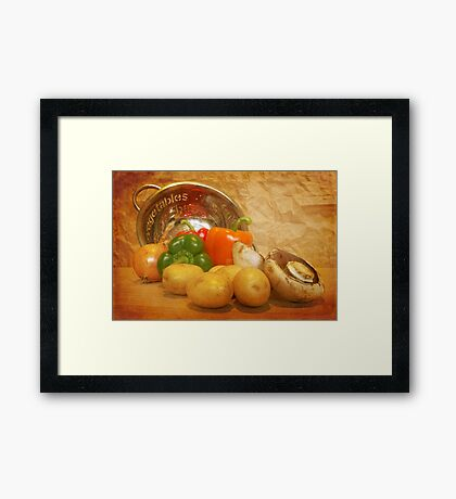 Cascading Vegetables Framed Print