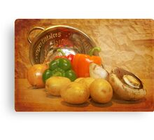 Cascading Vegetables Canvas Print
