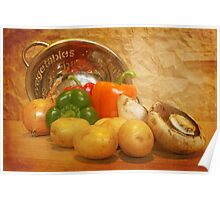 Cascading Vegetables Poster