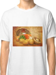 Cascading Vegetables Classic T-Shirt