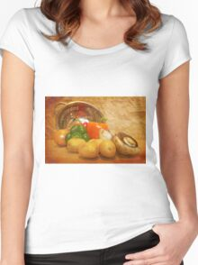 Cascading Vegetables Women's Fitted Scoop T-Shirt