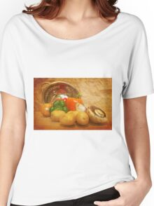 Cascading Vegetables Women's Relaxed Fit T-Shirt