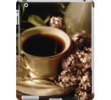 Coffee and Lilacs in the Morning iPad Case/Skin