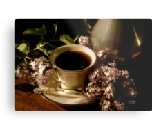 Coffee and Lilacs in the Morning Metal Print