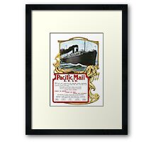 Pacific Mail Framed Print