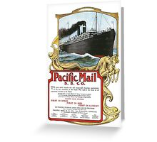 Pacific Mail Greeting Card