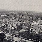 1906 Aerial Topeka, KS view from State House from antique postcard. by Steve Sutton
