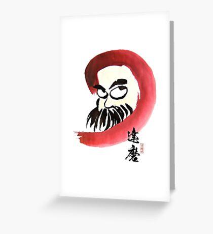 達磨 Daruma Greeting Card