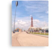 Blackpool Tower and Oar Canvas Print