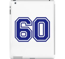 Number 60 iPad Case/Skin