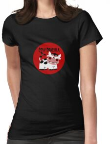 Cow Dracula Womens Fitted T-Shirt