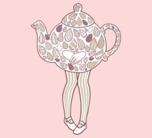 Teapot Girl - purple by Susan Lee