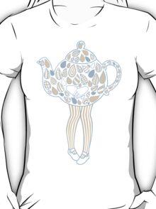 Teapot Girl - blue T-Shirt