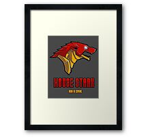 Game of Thrones / The Avengers - House Stark (Funny Iron Man Crossing) Framed Print