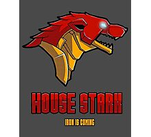Game of Thrones / The Avengers - House Stark (Funny Iron Man Crossing) Photographic Print