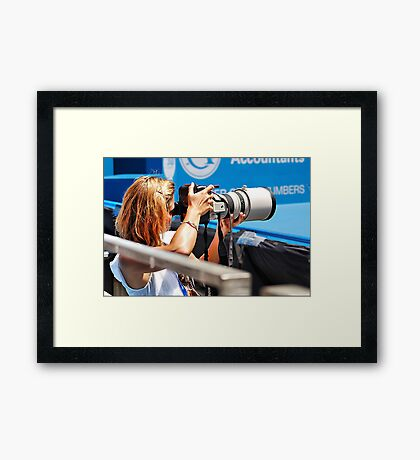 Heavy lifting photography Framed Print