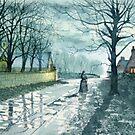 Church Lane by Moonlight by Glenn  Marshall
