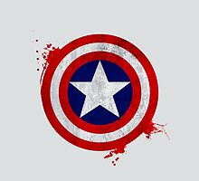 Captain America Shield - Vintage by galaxytimes