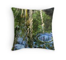 overflow reflective Throw Pillow