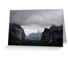 clouds over the valley Greeting Card