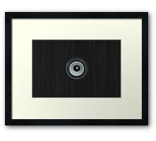 Black Speaker Framed Print