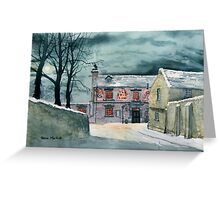 The Ship Inn at Sewerby in Wintertime Greeting Card