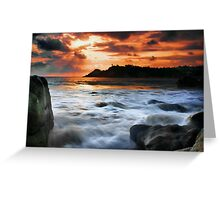 Evening Surf Greeting Card