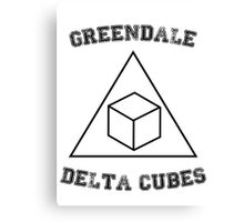 Greendale Delta Cubes Canvas Print