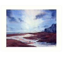 Evening Light over Bridlington Bay Art Print