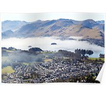 Keswick from the top of Latrigg   Poster
